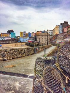 Lobster Traps at Tenby Harbor, Wales