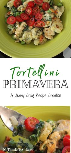 Jenny Craig Recipe Creation: Tortellini Primavera