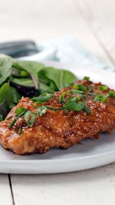 Twice-fried chicken dipped in a soy, honey and garlic sauce gives this chicken a sweet and satisfying extra crunch.