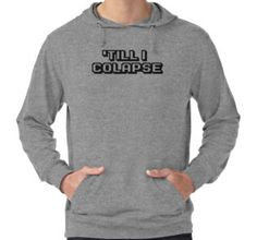 Lightweight Hoodie, eminem t shirts, eminem, eminem lyrics, rap lyrics, motivational lyrics, motivational gym t shirts, gym, gym t shirts, 'till i collapse, lose yourself, sports, video games, online gaming, multiplayer, multiplayer t shirts, pop lyrics, bodybulider, bodybuilding, bodybuilder t shirts, inspirational t shirts, never give