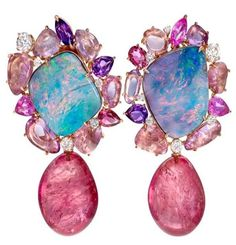 Margot McKinney Earrings opal ametysth tourmaline.Saved by Antonella B.Rossi