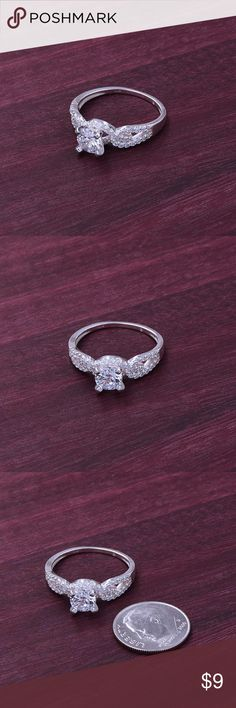 """‼️Clearance‼️925 Zirconium Ring Stamped """"925"""".   Sterling silver is an alloy of silver containing 92.5% by mass of silver and 7.5% by mass of other metal, like copper. The sterling silver standard has a minimum millesimal fineness of 925.   All my jewelry is solid sterling silver. I do not plate.   Hand crafted in Taxco, Mexico.  Will ship within 2 days Jewelry Rings"""