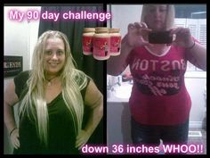 Carolynn's update!! Find out more about Skinny Fiber on my website here www.vickyiky1.SBC90.com  Carolynn says: Okay here it is.... My first 90 day challenge completed.... My name is Carolynn and I almost want to CRY!!!!! I'm both happy and Sad.... you see, I'm happy because i'm down 36 inches now and I FINALLY have CURVES!!!!!!!!!! I FINALLY found something that works with my body to help me lose the weight! As some of you know I was a gym girl (when the the first pic was taken, AND i…