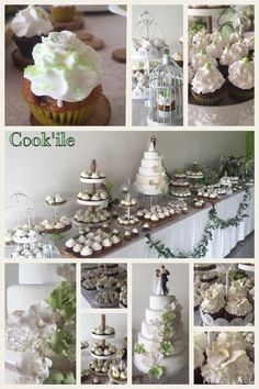 Ambiance Nature Orchidees Sweet Table Composee De Cupcakes Mini Wedding Cake