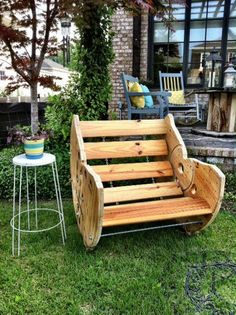 Merveilleux Recycled Spool Rocking Chair
