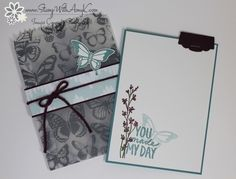 Stampin' Up! Nature's Perfection Vellum Mini Treat Bags Pretty Packaging, Some Cards, Butterfly Cards, Treat Bags, Homemade Cards, Stampin Up Cards, Card Making, Paper Crafts, Card Ideas