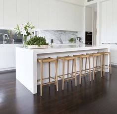 (Kitchen) island dreaming #homebeautiful #marble #kitchens Photography Shania Shegedyn Styling @wendybannisterstylist