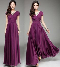 01 Purple new Long Maxi Formal Summer evening Cocktail Party Dress Plus Size 18W
