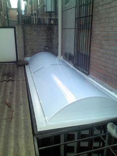 Domo arco cañon con bastidor de aluminio para patio de servicio...djc