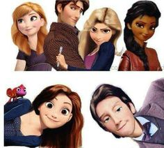 Doctor Who + Disney. I thought this was awesome. The characters are really cool animated.