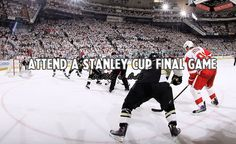 Hockey Bucket List- Attend a Stanley Cup Finals game, supporting the Bluenote!