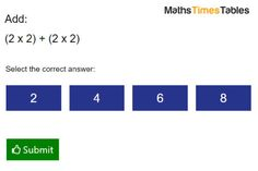 Can you figure out this question of 2 Times Table with Addition?  Are you looking for your child to sharpen their maths skills with times tables? Test your kids times tables skills with our configurable online times tables tests. MathsTimesTables gives children good practice in the times tables relevant to their age group.  Try MathsTimesTables Free Practice. https://www.facebook.com/MathsTimesTables/