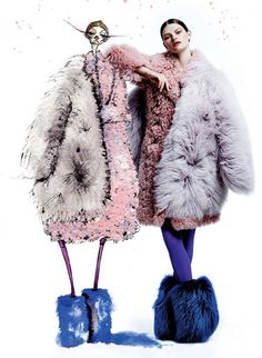 See what happened when we teamed up with illustrator Jamie Lee Reardin on a fur filled photo shoot http://www.fashionmagazine.com/fashion/2014/11/26/jamie-lee-reardin-fashion-shoot/