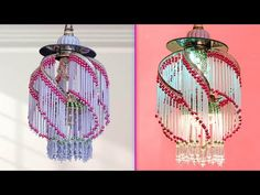 WOW !!! Amazing Pearl Chandelier Idea || Wall hanging Decoration || Home Decoration Idea - YouTube Macrame Toran Designs, Diwali Decorations At Home, Pearl Chandelier, Wall Hanging Crafts, Girl Photography Poses, Button Crafts, Diy Door, How To Make Bows, Ceramic Art