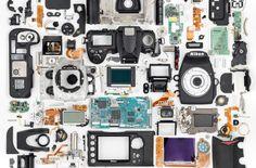 Disassembled Nikon D700 by Martin Koz