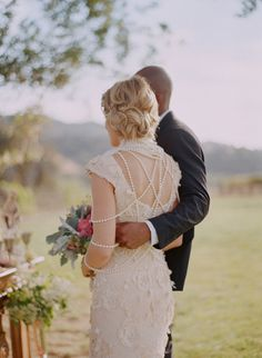 Ivory lace wedding dress   photography by http://elizabethmessina.com/