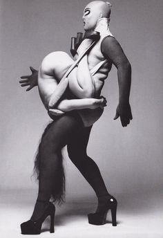 Leigh Bowery & Nicola Bateman by Fergus Greer
