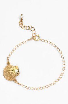 ki-ele 'Golden Sunrise' Shell Charm Bracelet available at #Nordstrom
