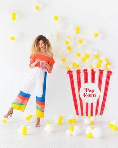 Popcorn Balloon Backdrop!