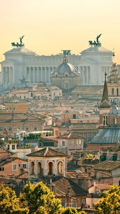 Rome skyline, Rome, Lazio, Italy  An image travel guide about things to do in Rome, Italy - a place full of history and amazing monuments! -- Have a look at http://www.travelerguides.net