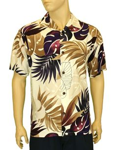 5d38129939 Check out the deal on Rayon Aloha Resort Shirt Hawaii Monstera Design at  Shaka Time Hawaii