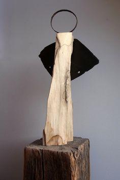 Weihnachtsdeko - handgefertigter Engel aus Holz & Stahl - Unikat - ein Designerstück von BK-s-kleine-Tochter bei DaWanda