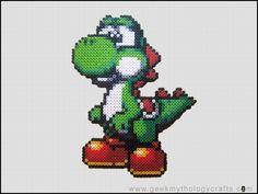 Giant Yoshi Bead Sprite by GeekMythologyStudios.deviantart.com on @deviantART