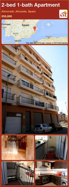 2-bed 1-bath Apartment in Almoradi, Alicante, Spain ►€55,000 #PropertyForSaleInSpain