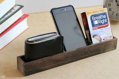 Wood Yardstick DIY Organizer