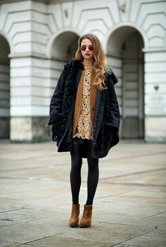 Winter Tights Outfits | StyleCaster