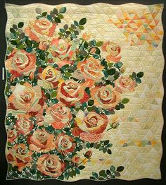 amazing roses quilt. Tokyo International Quilt Festival 2008 by PatchworkPottery, via Flickr