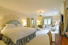 Luxury bedroom with sitting area