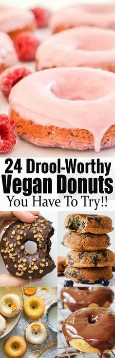 If you are looking for vegan donuts, this post is perfect for you! Vegan cooking can be so easy and extremely delicious! Find more vegan desserts and Healthy Vegan Dessert, Coconut Dessert, Cake Vegan, Oreo Dessert, Vegan Dessert Recipes, Donut Recipes, Vegan Treats, Vegan Foods, Vegan Dishes
