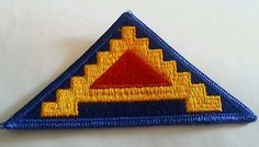 7th Army Patch Sew on New WWII Vintage Military Collectible   eBay
