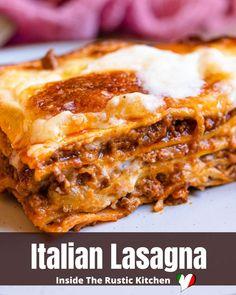 Italian Stew, Italian Lasagna, Italian Risotto Recipe, Risotto Recipes, Italian Pasta Recipes Authentic, Italian Dinner Recipes, Beef Lasagne, Lasagne Recipes, Blackstone Grill
