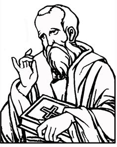 Saints coloring pages on pinterest catholic saints and for Apostle paul coloring page