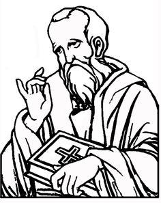 coloring pages apostle paul - photo#32