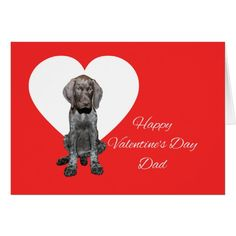 Dad Glossy Grizzly Valentine Puppy Love Card