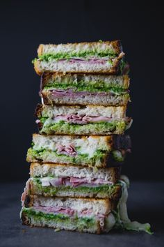 Ham and Gruyere Grilled Cheese with Sweet Pea Spread