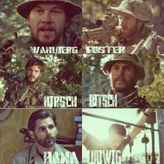 The men (cast) of Lone Survivor: Mark, Ben, Emile, Taylor, Eric & Alexander... Such a heartfelt, sad movie! Thank you SEALS, thank you military, for everything you do.