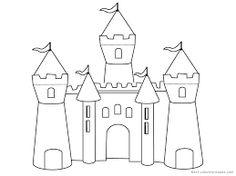 Print Princess Castle Coloring Pages