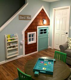 Under the stair play house. Webb Smith Interiors-Interior Design-Decorator-Fredericksburg, VA