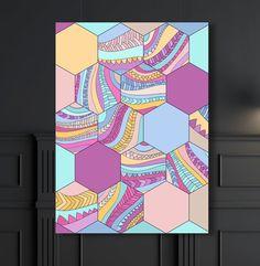 Laminas, Laminas Decorativas, Laminas Geometricas, Cuadro Abstracto, Geometric Abstract Deco, Nordic Deco, Boho Deco, Colorful Wall Art