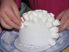 Arctic theme / igloo....Could use packing peanuts instead. As a child we used sugar cubes to build an igloo.