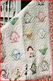 basket quilt made from Handkerchiefs