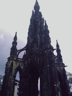 castle, palace, dark, dreamy - the Gothic skyrocket that is The Scott Monument - dark Edinburgh - Gothic Buildings, Gothic Architecture, Beautiful Architecture, Scott Monument, Gothic Aesthetic, Victorian Gothic, Abandoned Places, Monuments, Fairy Tales