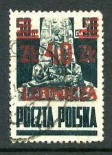 Poland Polish People's Republic Stamps Scott #C19 Surcharged 1947