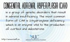 What is CAH, Congenital Adrenal Hyperplasia? 21 Hydroxylase deficiency, salt wasting CAH, classic CAH, adrenal insufficiency, Adrenal Insufficiency Coalition.