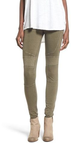 BP. Stretch Cotton Moto Leggings
