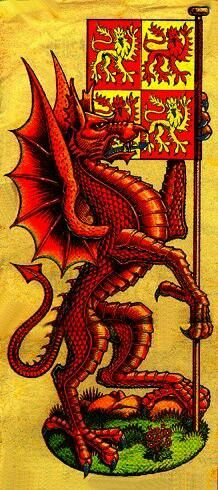 Y Ddraig Goch- Welsh coat of arms inspired by a legend about Merlin. Have you ever wondered why Dragons feature so prominently in the ruling elite's iconography? Red Dragon, Dragon Art, Y Ddraig Goch, Dragons, Welsh Dragon, Wales Uk, Cymru, Crests, My Heritage
